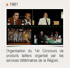 Organisation du 1er Concours de produits laitiers organisé par les services Vétérinaires de la Région.