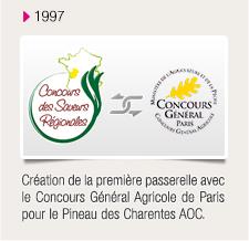 Création de la première passerelle avec le Concours Général Agricole de Paris pour le Pineau des Charentes AOC.