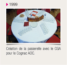 Création de la passerelle avec le CGA pour le Cognac AOC.