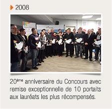 20ème anniversaire du concours avec remise exceptionnelle de 10 portaits aux lauréats les plus récompensés.