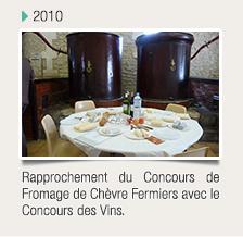 Rapprochement du Concours de Fromage de Chèvre Fermiers avec le Concours des Vins.